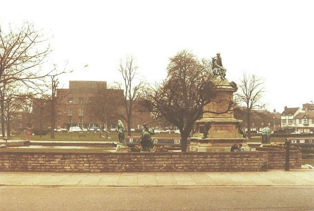Gower Memorial, Stratford-Upon-Avon in 1984