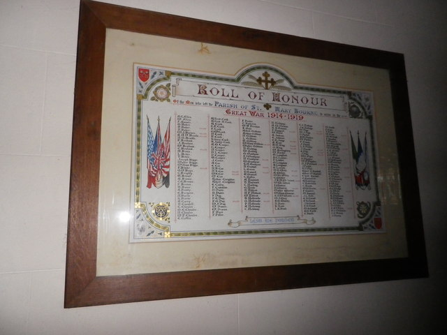 St Peter's at St Mary Bourne- Roll of Honour