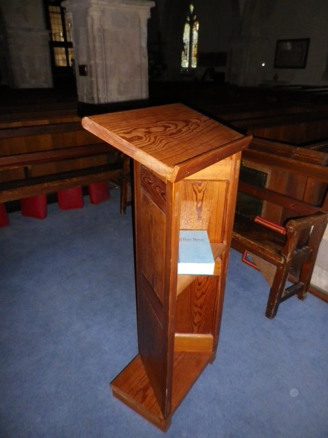 St Peter's at St Mary Bourne- modern lectern
