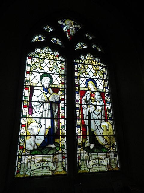 St Peter's at St Mary Bourne- stained glass window (7)