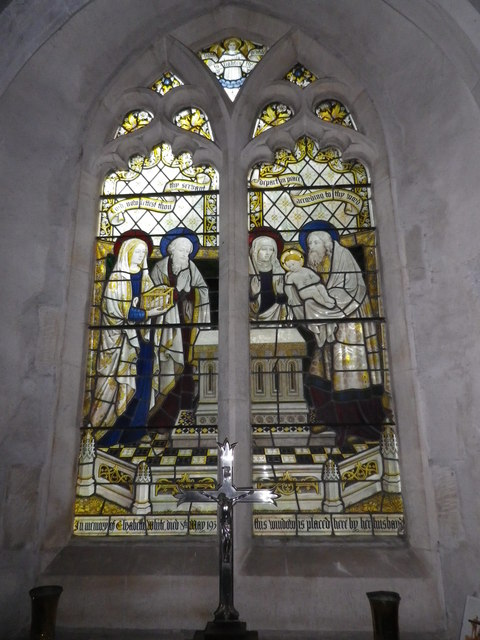 St Peter's at St Mary Bourne- stained glass window (8)