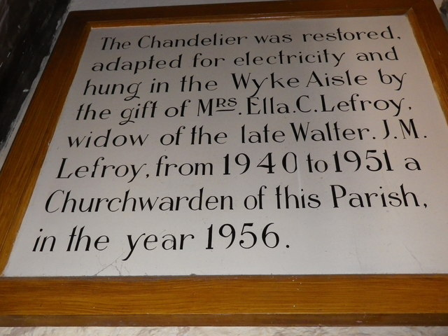 St Peter's at St Mary Bourne- chandelier commemoration (2)