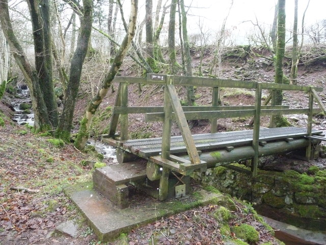 Wooden footbridge near Cerreg Cennen Castle