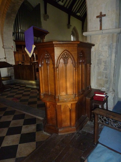 St Peter's at St Mary Bourne- pulpit