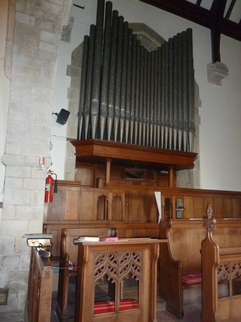 St Peter's at St Mary Bourne- organ