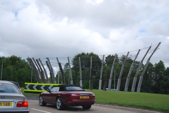 Sculpture on the A82