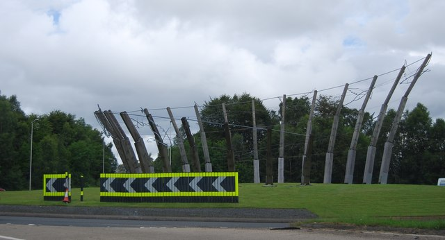 Wildfowl Sculpture on the A82