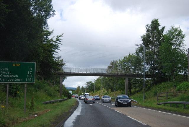 Footbridge over the A82