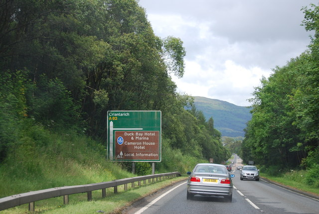 A82 heading north