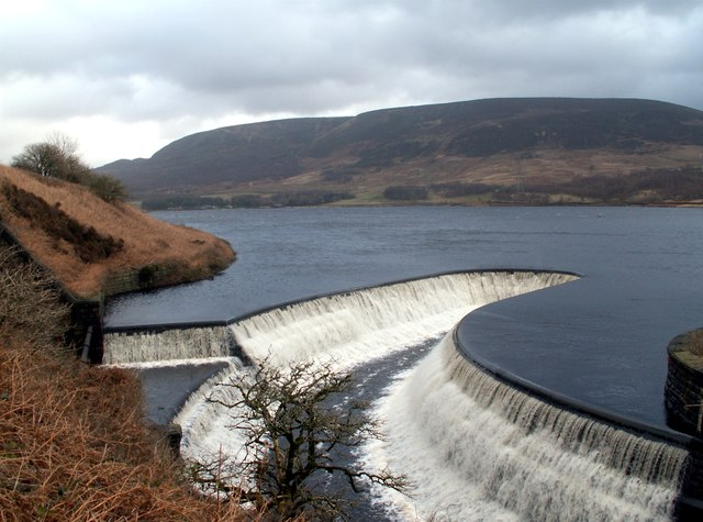 Torside Reservoir overspill to Rhodeswood Reservoir