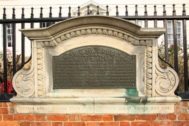 Carey Mission House plaque