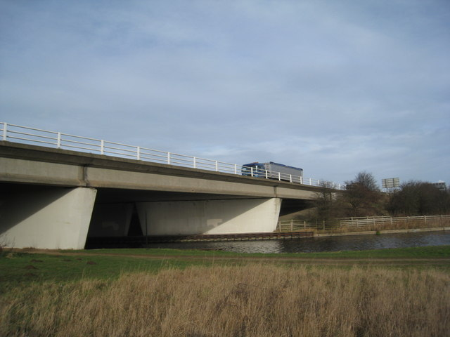 Motorway and canal