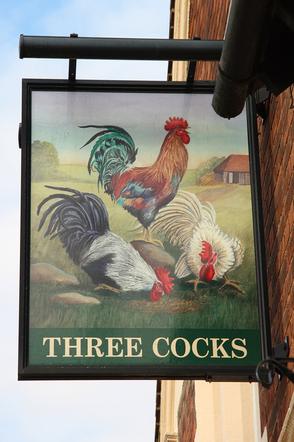 The sign of the Three Cocks
