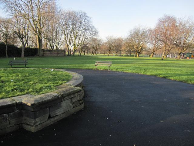 A former fountain in Newsham Park