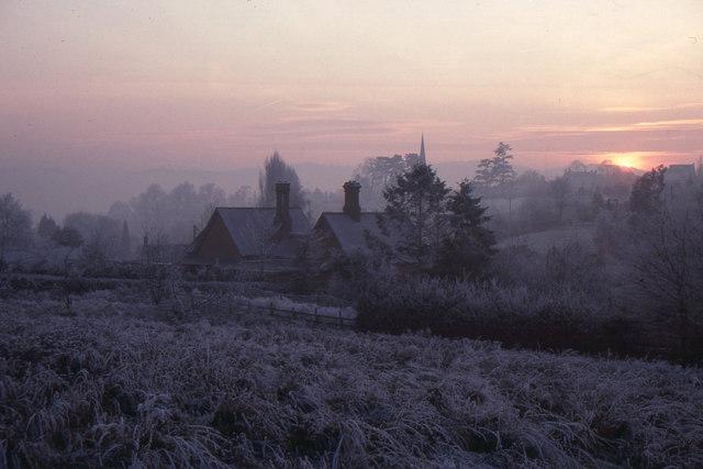 Goodrich: winter sunset
