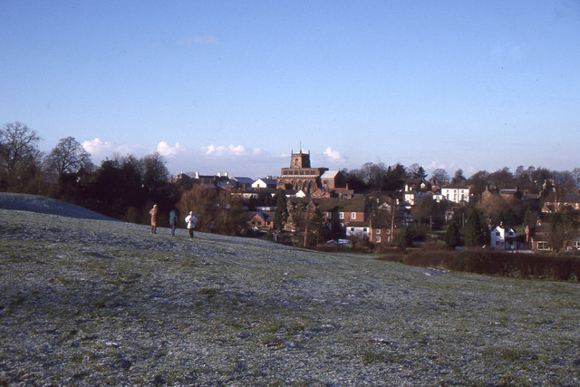 Audlem from Holmes Bank, Christmas Day 1995