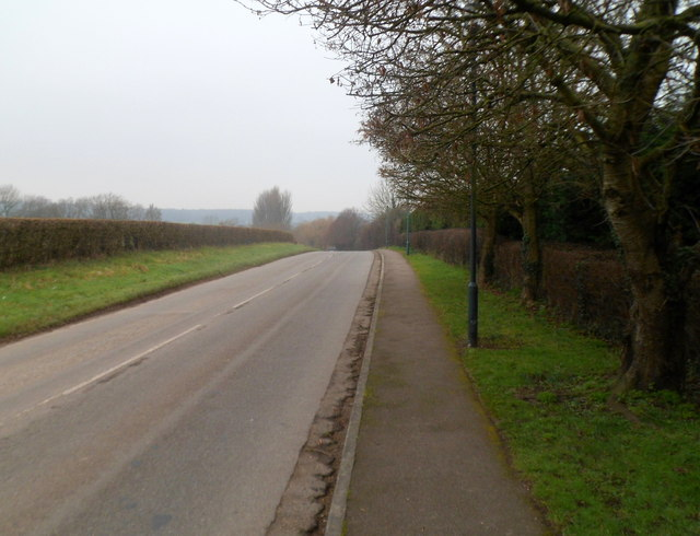 Road to the A48 from Mathern
