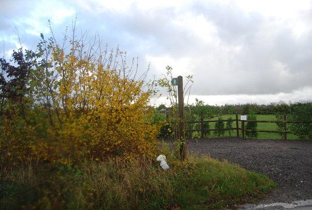 Footpath off Stockett Lane