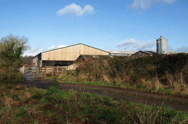 Farm buildings by Limers Lane