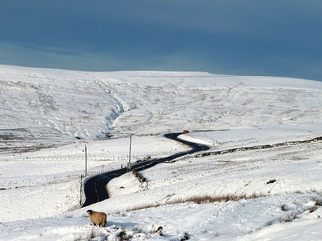 The A686 heading for Hartside Cross at Rae Gill