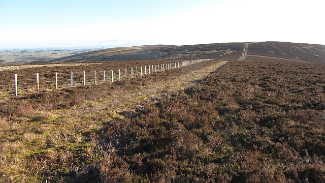 New fence on Dunlee Hill