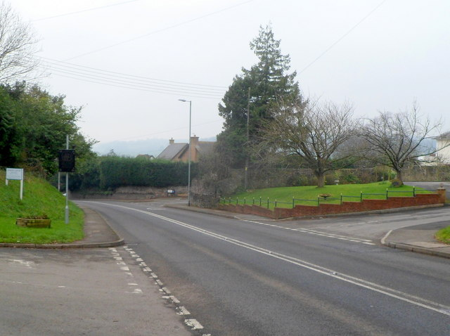 The A48 in Pwllmeyric near Chepstow