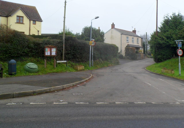 Northern end of Chapel Lane, Pwllmeyric