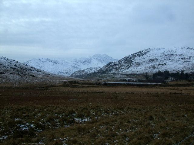 View towards Snowdon and Crib Goch