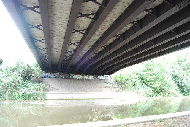 Below the M20 bridge