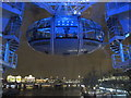 TQ3079 : London Eye at night - capsule near bottom by David Hawgood