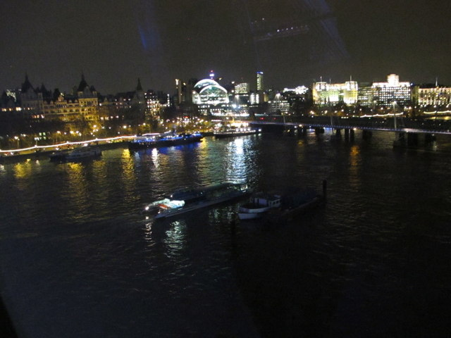 Charing Cross Station from London Eye at night