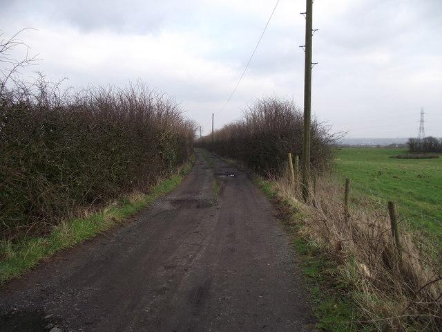 Track leading to Higher Spen Moor