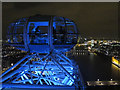 TQ3079 : London Eye by night - capsule at top by David Hawgood