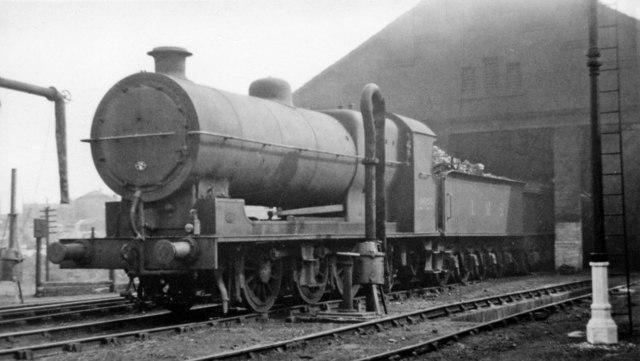 Survivor of a large class of ex-L&Y, at Normanton Locomotive Depot