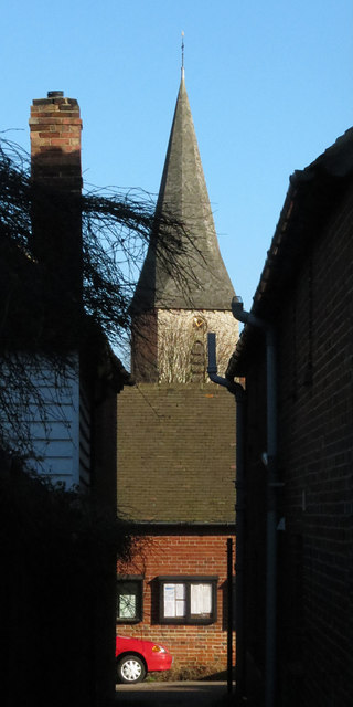 Spire of church of Ickham Church