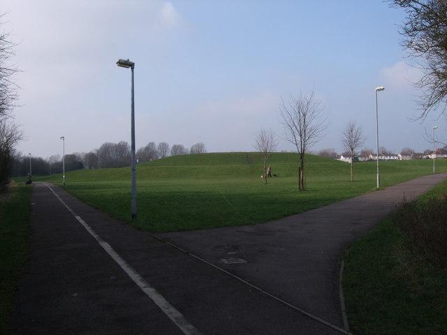 Mound, green area, Pinehurst