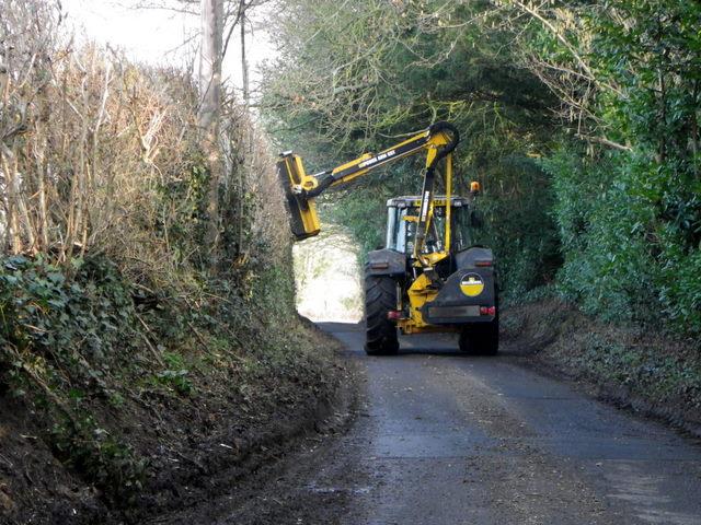 Hedge cutting near Rockbourne