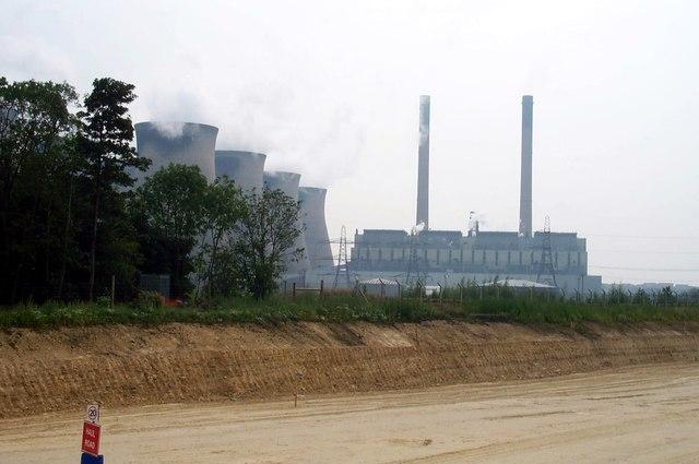 Ferrybridge power station A1M Motorway detour