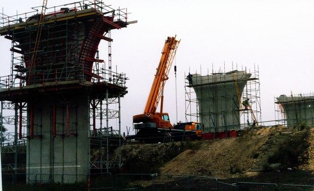 Motorway Pillars at Ferrybridge