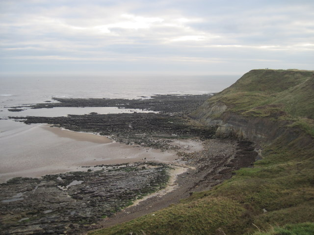 Scalby  Ness  at  Low  Tide