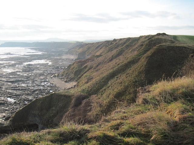 Coastline  back  toward  Scalby  Ness