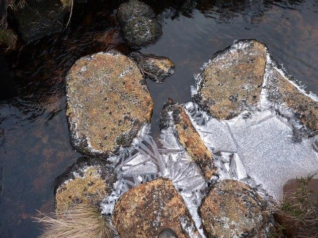 Ice buttresses on Allt nan Losgann