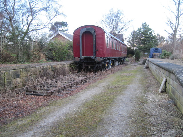 Railway  Carriage  at  Cloughton  Station