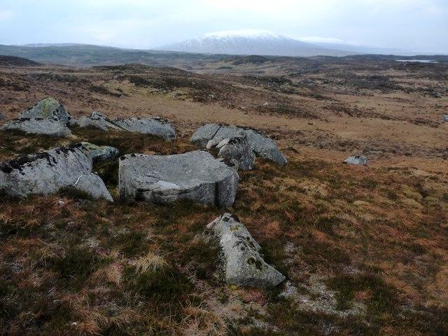A jumble of boulders below Geàrr Leacann