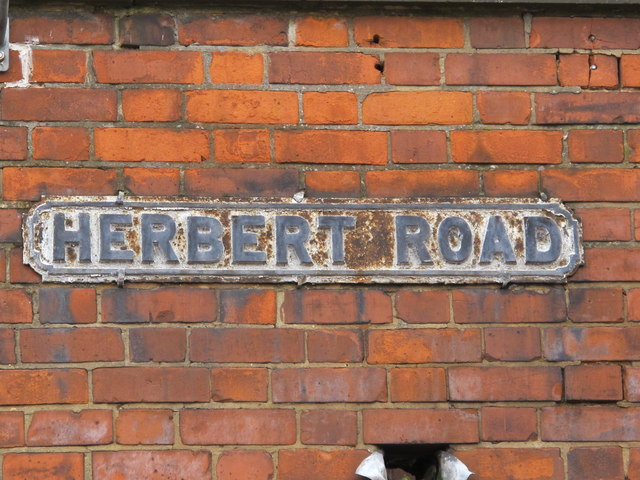 Sign for Herbert Road, NW4