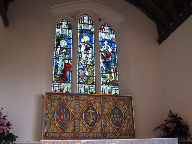 St Bartholomew, Burstow: East window