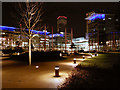 SJ8097 : The Piazza, MediaCityUK by David Dixon