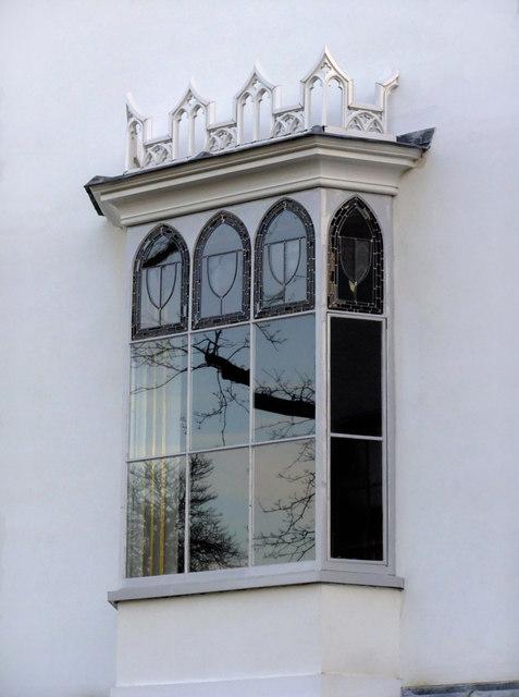 Gothic oriel window at Strawberry Hill, Twickenham