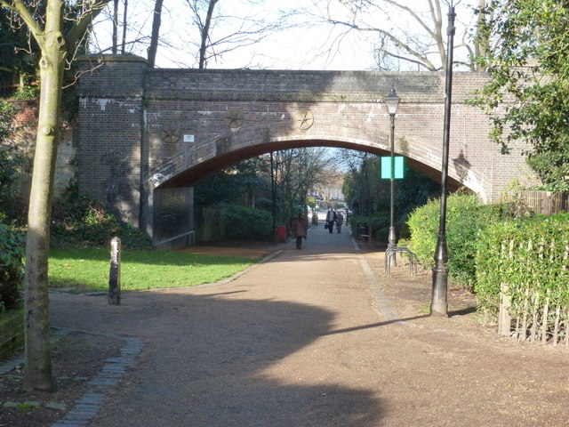 Alexandra Palace: footpath to Dukes Avenue