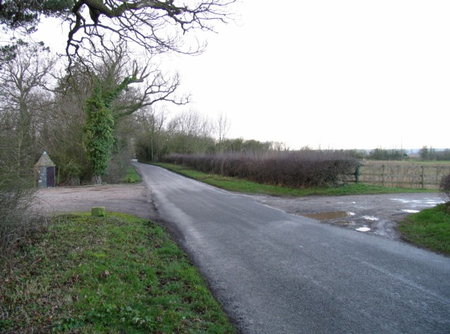 Entrances to Hall Farm and Harborough Farm on Pasture Lane